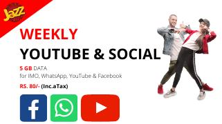 jazz weekly social packages