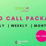 Zong Call Packages - Hourly, Daily, Weekly, Monthly