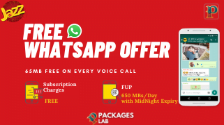 Jazz free WhatsApp offer