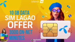 Telenor SIM Lagao Offer – Free 10GB, 3000 Minutes