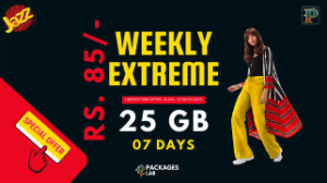 Jazz Weekly Extreme Offer 3G/4G – 25 GB