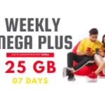 Jazz Weekly Mega Plus Offer 3G/4G - 25GB