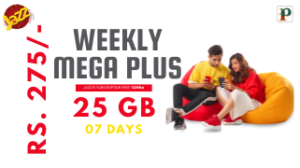 Jazz Weekly Mega Plus Offer 3G/4G – 25GB