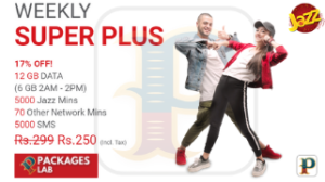 Jazz Weekly Super Plus Offer – Subscription Code & Price