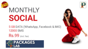 Jazz Monthly Social Bundle – Monthly Facebook – WhatsApp & SMS Package