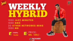 Jazz Weekly Hybrid Package 3G/4G – Internet, Minutes, SMS