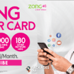 Zong Super Card Monthly Offer - Rs. 483 + Tax