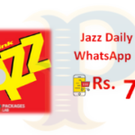 Jazz Daily SMS & WhatsApp Package - 24 Hours - Rs. 7.2/-