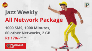 Jazz Weekly All Network Package 2021 – Rs. 170/-